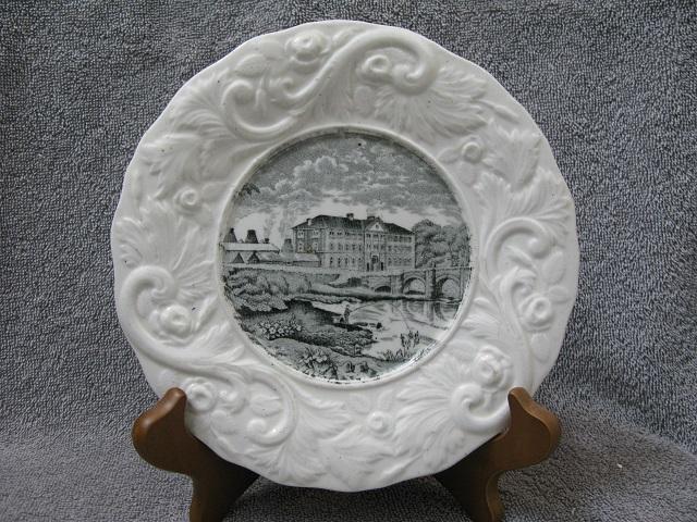 Stoneware Pottery Scenic Plate !!