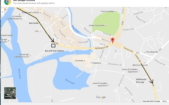 ANY Airport to Enniskillen Bus Depot !!