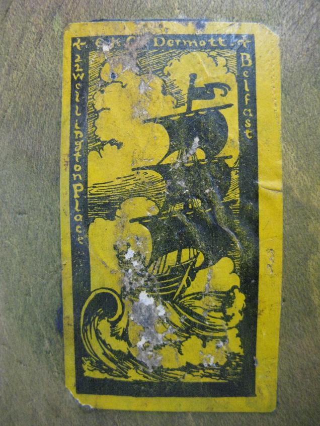 My EK McDermott WOODEN SALAD Welcome Bowl CLOSE UP of Shop Sticker !!