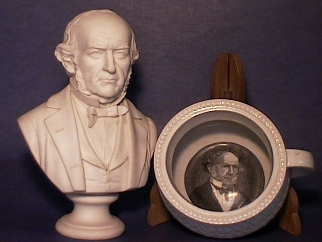 Bust of Gladstone and Miniature Chamber Pot !!