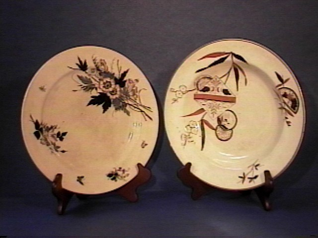 Pair of Earthenware Plates !!