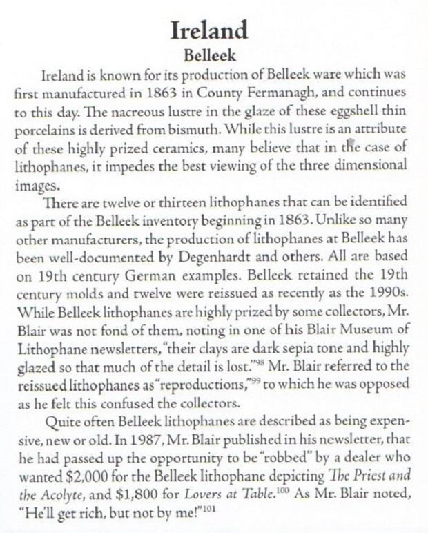 Belleek Lithophane Text !!